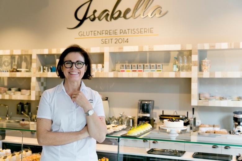 Die stolze Gründerin Isabella Kratz ©Isabella Glutenfreie Pâtisserie