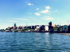 Idylle pur - süße Wochenendhäuschen direkt am Ufer der Alten Donau. ©katrin-lars.net