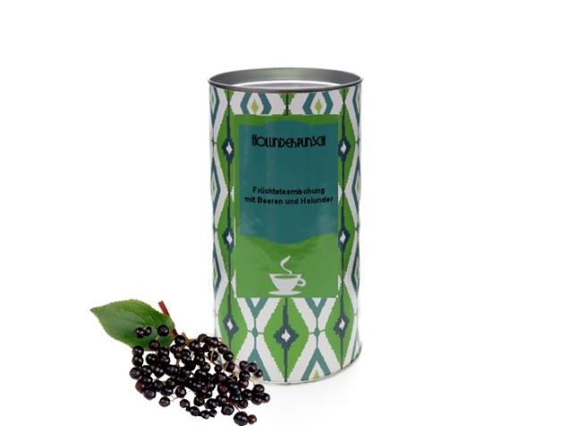 Wintertee: Früchtetee Holunderpunsch von Tea & More. © Tea & More Onlinehandel UG