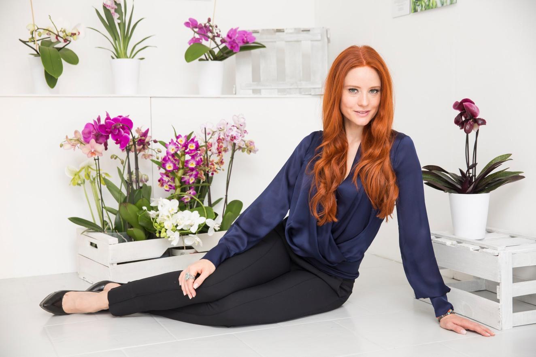 Orchideen-Botschaferin: Model & Schauspielerin Barbara Meier © 2016 Bloemenbureau Holland