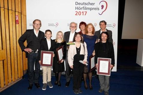 """Deutscher Hörfilmpreis 2017 in der Kategorie Kino für """"Nebel im August"""" beim 15. Deutschen Hörfilmpreis am 21. März 2017 © DBSV/Franziska Krug"""