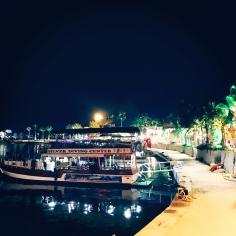 Tolle Abendstimmung am Hafen von Side. © katrin-lars.net