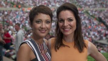 Moderatorinnen Madeleine Wehle & Franziska Maushake © 2017 rbb Fernsehen