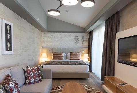 Lädt ein zum Verweilen: die Penthouse Suite im Barut Acanthus & Cennet. © Barut Hotels