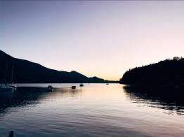 Romatischer Sonnenuntergang! Beobachtet vom hauseigenen Bootssteg © larsurban.net
